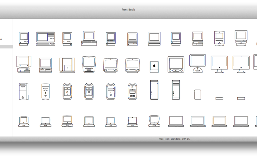 歴代のMacをアイコンにしたフォントを公式サイトで発見!