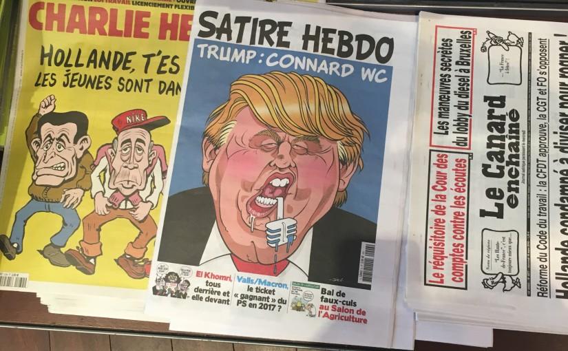 パリ一人旅 〜 風刺マガジンが面白い