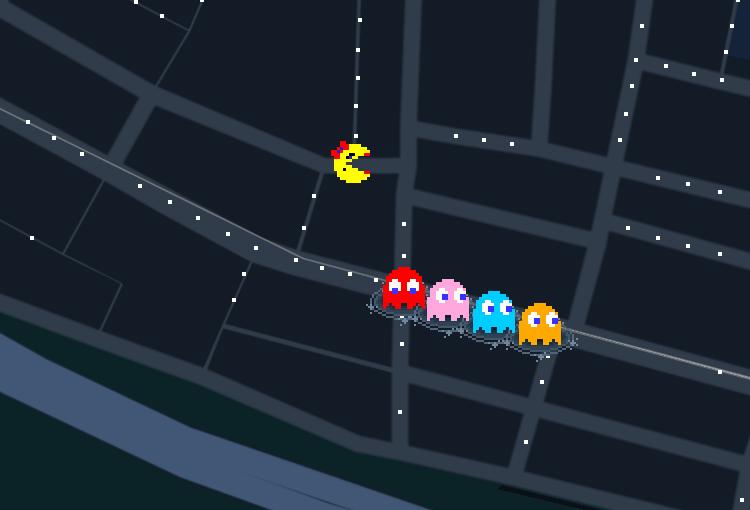 Google Mapsでパックマンがプレイできる?!
